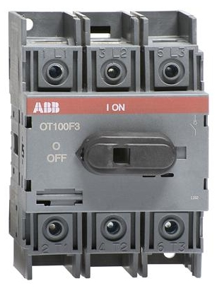 Abb Ot100f3 Disconnect Switch 3 Pole Rated At 100 Amps