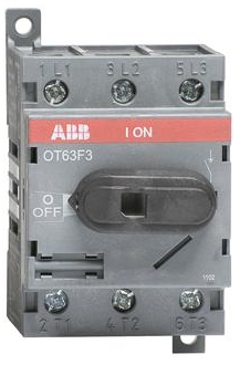 ABB OT63F3 Disconnect Switch 3-pole rated at 63 AMPS