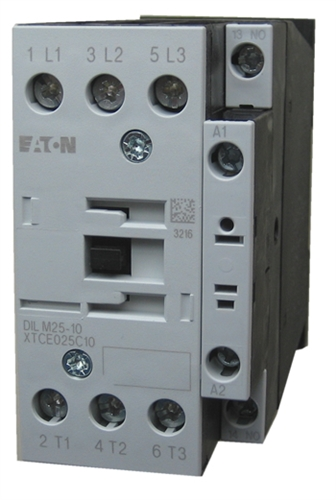 XTCE025C10 2?1495538214 xtce025c10 eaton contactor rated at 25 amps with an ac or dc coil eaton dilm25-10 wiring diagram at bakdesigns.co