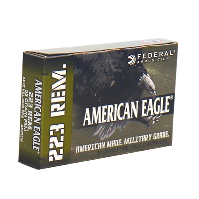 Federal American Eagle 223 Remington Ammo 55 Grain Full Metal Jacket Boat Tail
