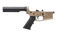 Aero Precision M4E1 Carbine Complete Lower Receiver w/ A2 Grip, No Stock - FDE Cerakote
