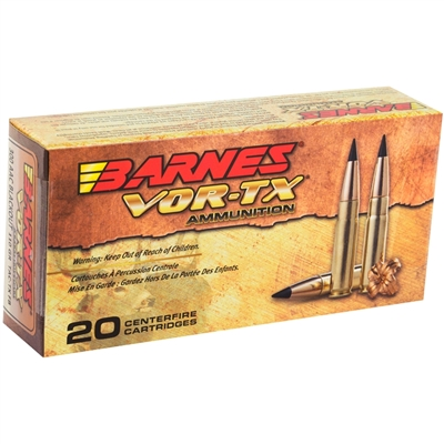 Barnes VOR-TX 300 AAC Blackout Ammo 110 Grain Tipped TAC-TX Bullet Flat Base Lead-Free