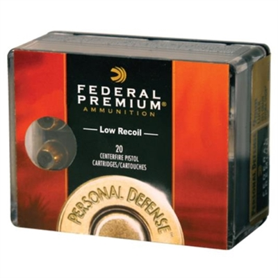 Federal Personal Defense 40 S&W Ammo 135 Grain Hydra-Shok Jacketed Hollow Point