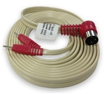 Right Angle 3-Pin Din to .080 Pin 10 ft Lead Wire