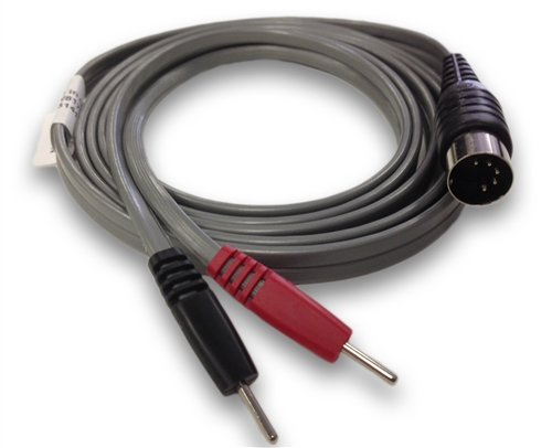 Straight 5-Pin Din to .080 Pin 6 ft Red/Black Lead Wire