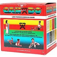 Cando Low Powder Exercise Band 50 yd Red Light