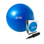 "Healthy Youâ""¢ Anti Burst Exercise Ball 55cm Blue"