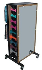 Combo Weight Storage Rack With Mirror