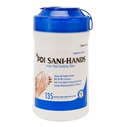 PDI® Sani-Hands® Instant Hand Sanitizing Wipes 135/Tub