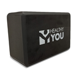 "Healthy You® Yoga Block 9"" x 6"" x 4"" - Black"