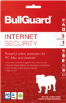 BullGuard Internet Security 2018 Activation Card 1 Year / 3 Devices English/French  -MAC/WIN/ANDRIOD -Commercial -BOX