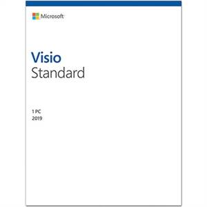 Microsoft Visio 2019 Standard - 1 PC -Commercial -WIN -Box