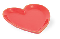 Red Cherry Medium Heart Plate