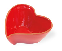 Red Cherry Heart Bowl