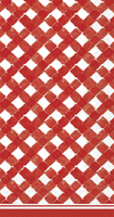 Rosanne Beck Gingham Red Guest Towels