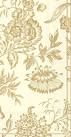 Florence Cream/Gold Guest Towels