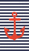Yacht Club Anchor Blue Guest Towels