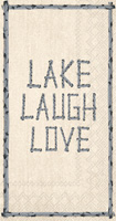 Lake Laugh Love Guest Towels