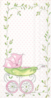 Rosanne Beck Pink Baby Carriage Guest Towels