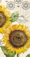 Botanical Sunflower Cream Guest Towels