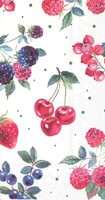 Red Summer Fruits Guest Towel
