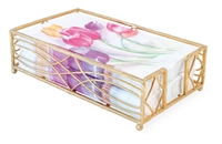Wave Gold Leaf Guest Towel Caddy