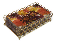 Ribbon Gold Guest Towel Caddy