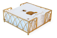 Arch Gold Leaf Lunch Napkin Caddy