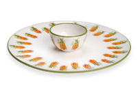Eddie & Carrots Crudite Server/Bowl Set