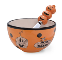 Pumpkin Toss Bowl & Spreader Set