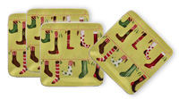 Crazy Christmas Stockings Plates