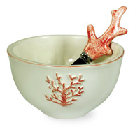 Coral Bowl & Spreader Set