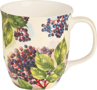 Elderberry Cream Bone China Country Mug