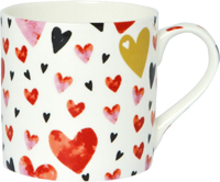 Love You Gold/Red Bone China Mug