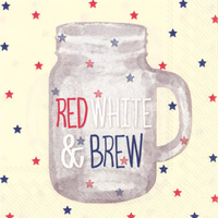 Red, White & Brew Cocktail Napkins