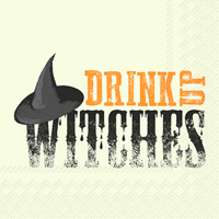 Drink Up Witches Cocktail Napkins