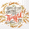 Rosanne Beck Thankful Cocktail Napkins