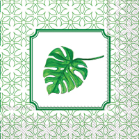 Rosanne Beck Heart Palm Leaf Cocktail Napkins
