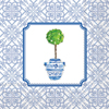 Rosanne Beck Blue Topiary Cocktail Napkins