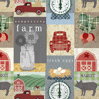 Country Patchwork Cocktail Napkins