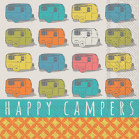 Happy Campers Cocktail Napkins
