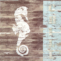 Beach Bum Seahorse Cocktail Napkins