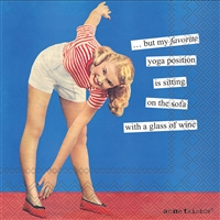 Anne Taintor Yoga Cocktail Napkin
