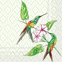 Rosanne Beck Hummingbird and Hibiscus Cocktail Napkins