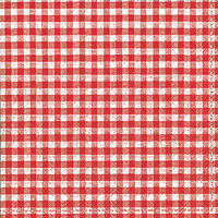 Vichy Red Cocktail Napkins
