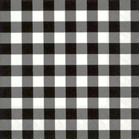 Buffalo Check Black Cocktail Napkin