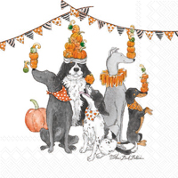 Halloween Party Dogs Juggler Cocktail Napkin