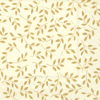 Folia Cream Gold Cocktail Napkins