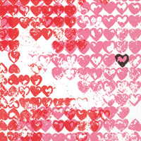Little Heart Red Cocktail Napkins