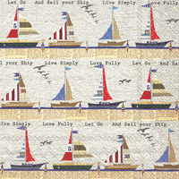 Ahoy Buoy Stripe Cocktail Napkins